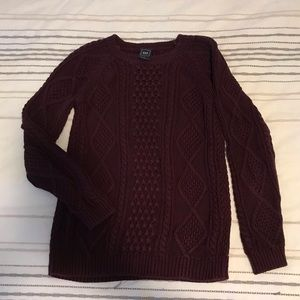 Beautiful Burgundy GAP Cable Knit Sweater